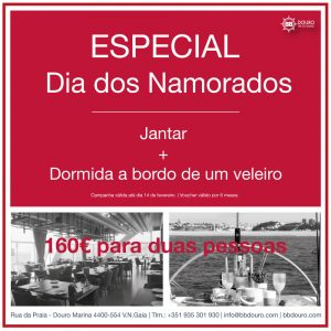 Dia dos Namorados Porto | BBDouro - We do Sailing