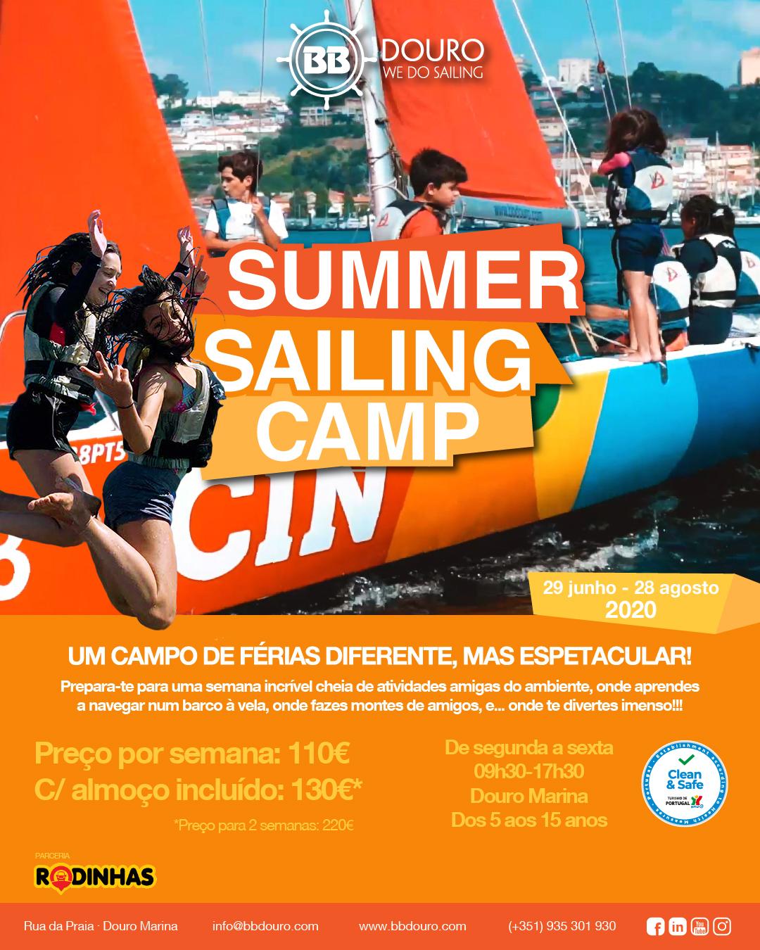 Summer Sailing Camp 2020 | Campos de Férias Porto | BBDouro - We do Sailing